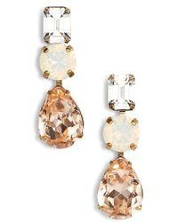 Sorrelli - Polished Pear Crystal Drop Earrings - Lyst