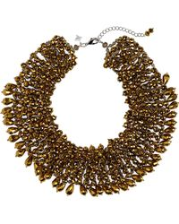 Panacea - Crystal Statement Collar Necklace - Lyst
