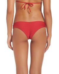 Pilyq | Ruched Bikini Bottoms | Lyst