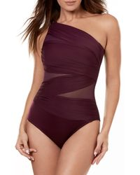 Miraclesuit - Miraclesuit Jena One-shoulder One-piece Swimsuit - Lyst