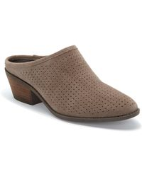 Me Too - Zaidee Perforated Suede Mules - Lyst