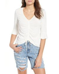 Mimi Chica - Cinch Front Tee - Lyst