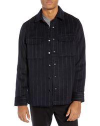 Calibrate - Clean Pinstripe Shirt Jacket - Lyst