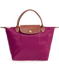 Longchamp - 'small Le Pliage' Top Handle Tote - Purple - Lyst