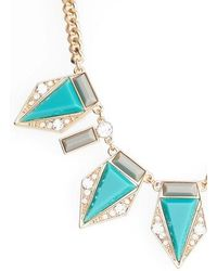 Adia Kibur | Triangle Stone Necklace | Lyst