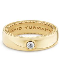 David Yurman - Streamline Band Ring With Diamond - Lyst