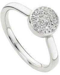 Monica Vinader - 'ava' Diamond Button Ring - Lyst