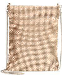 c19b1454932d Lyst - Nordstrom Mya Leather Crossbody Bag - Metallic in Metallic