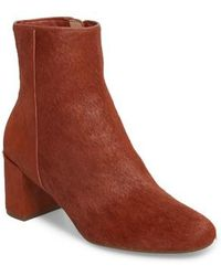 Taryn Rose - Cassidy Genuine Calf Hair Block Heel Bootie - Lyst