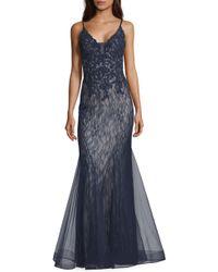 Xscape - Sparkling Lace Mermaid Evening Dress - Lyst