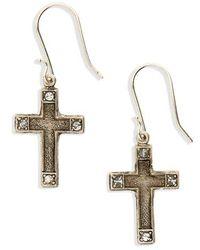 Virgins, Saints & Angels - Les Celestes Cross Earrings - Lyst