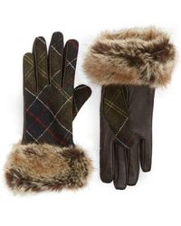 Barbour - Linton Leather & Wool Gloves - Lyst