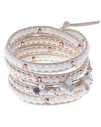 Nakamol - Leather & Agate Wrap Bracelet - Lyst
