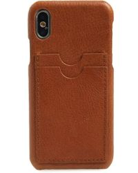 Madewell - Card Slot Leather Iphone X Case - Lyst