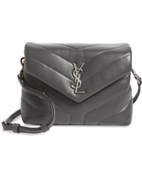 Saint Laurent - Toy Loulou Calfskin Leather Crossbody Bag - Lyst 61b87ee94d70e