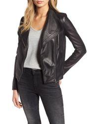 ac4469b9d52 IRO Scottsdale Leather Moto Jacket in Black - Lyst