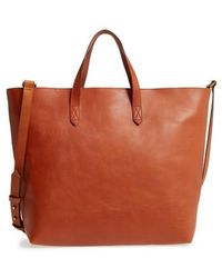 Madewell - Zip Top Leather Tote - Lyst