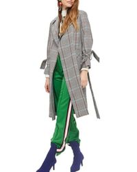 TOPSHOP | Check Belted Coat | Lyst