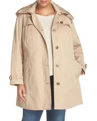 London Fog - Single Breasted Trench Coat - Lyst