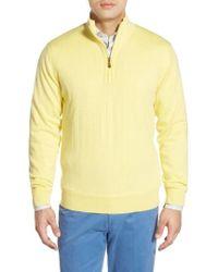 Bobby Jones | Windproof Merino Wool Quarter Zip Sweater | Lyst