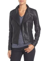 Andrew Marc - By Andrew Marc 'Felix' Stand Collar Leather Jacket - Lyst