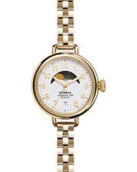 Shinola - 'the Birdy' Moon Phase Bracelet Watch - Lyst