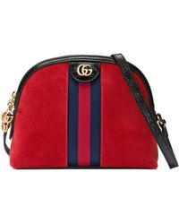 Gucci - Small Suede Shoulder Bag - - Lyst