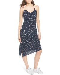 AG Jeans - Scarlett Print Midi Dress - Lyst