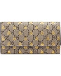 816d96f9f6d Lyst - Gucci Gg Supreme Canvas Chain Wallet in Natural