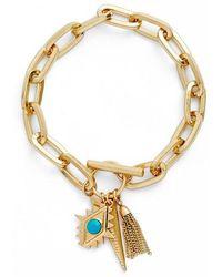 Rebecca Minkoff - Perfect Chain Paisley Charm Bracelet - Lyst