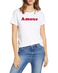 French Connection - Amour Graphic Tee - Lyst