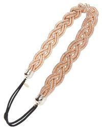 Cara - Metallic Braided Head Wrap - Lyst