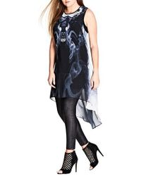 City Chic - Mirror Marble Tunic - Lyst