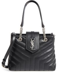 Saint Laurent - Small Loulou Matelasse Leather Shopper - - Lyst