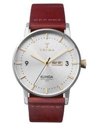 Triwa   Klinga Leather Strap Watch   Lyst