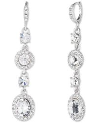 Givenchy   Crystal Linear Drop Earrings   Lyst