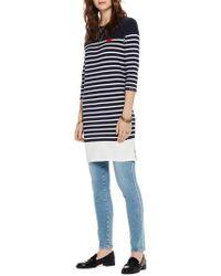 Scotch & Soda - Heart Patch Breton Stripe Dress - Lyst