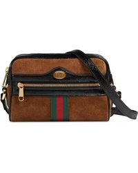 Gucci - Ophidia Small Suede & Leather Crossbody Bag - - Lyst