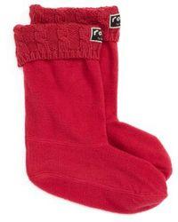 Roma - Knit Collar Fleece Boot Socks - Lyst