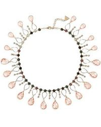Serefina - Scattered Crystal Necklace - Lyst