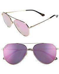 DIFF - X Jessie James Decker Dash 61mm Polarized Aviator Sunglasses - - Lyst