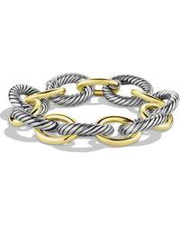 David Yurman Chain 18k Yellow Gold & Sterling Silver Oval Extra-large Link Bracelet