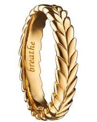 Monica Rich Kosann - Breathe 18k Gold Poesy Ring Charm - Lyst