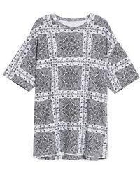 Converse - X Miley Cyrus Bandana Print T-shirt Dress - Lyst