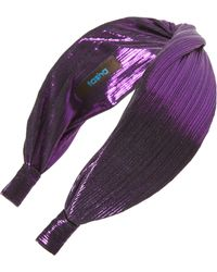 Tasha - Metallic Twist Headband - Lyst