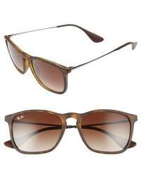 Ray-Ban - Chris 54mm Gradient Lens Sunglasses - Gradient Brown - Lyst