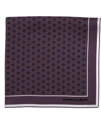 Hook + Albert - Diamond Medallion Silk Pocket Square - Lyst