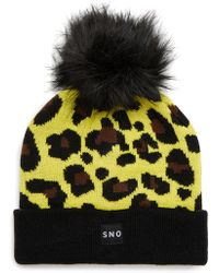 TOPSHOP - Sno Beanie With Faux Fur Pompom - Lyst