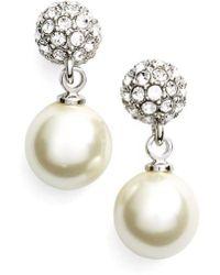 Givenchy - Fireball Imitation Pearl Drop Earrings - Lyst