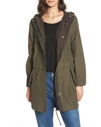 Levi's - Cotton Hooded Fishtail Coat - Lyst